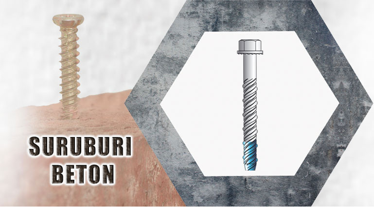 suruburi beton / concrete screws